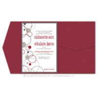 Modern Circles Pocket Fold Invitations