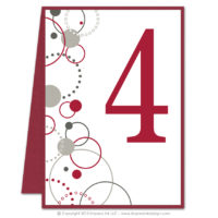 Modern Circles Table Numbers