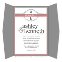 Modern Monogram Gatefold Invitations