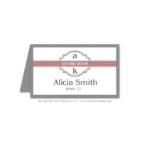 Modern Monogram Place Cards