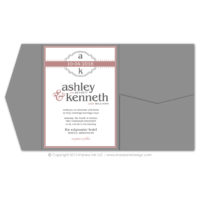 Modern Monogram Pocket Fold Invitations