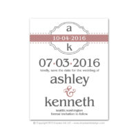 Modern Monogram Save the Dates