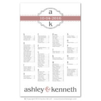 Modern Monogram Seating Charts
