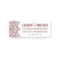 Moroccan Border Address Labels