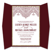 Moroccan Border Gatefold Invitations