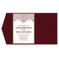 Moroccan Border Pocket Fold Invitations