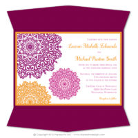 Moroccan Gatefold Invitations