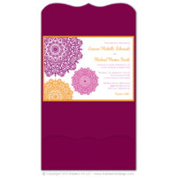 Moroccan Pocket Fold Invitations