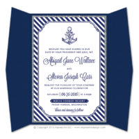 Nautical Stripes Gatefold Invitations