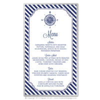Nautical Stripes Menus