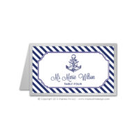 Nautical Stripes Place Cards