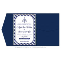 Nautical Stripes Pocket Fold Invitations