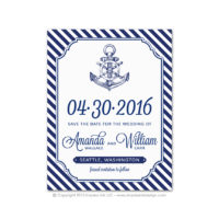 Nautical Stripes Save the Dates