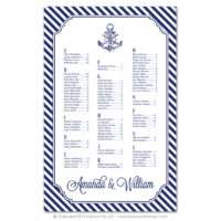 Nautical Stripes Seating Charts