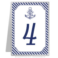 Nautical Stripes Table Numbers