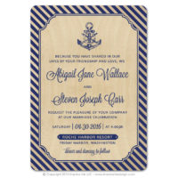 Nautical Stripes Wood Cards