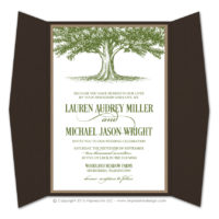 Oak Tree Gatefold Invitations