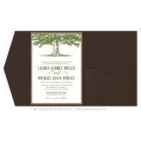 Oak Tree Pocket Fold Invitations