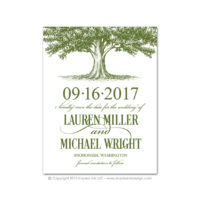 Oak Tree Save the Dates