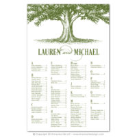 Oak Tree Seating Charts