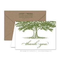 Oak Tree Thank You Cards
