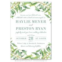 Olive Branch Flat Invitations