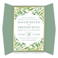 Olive Branch Gatefold Invitations