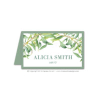 Olive Branch Place Cards
