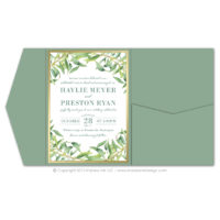 Olive Branch Pocket Fold Invitations