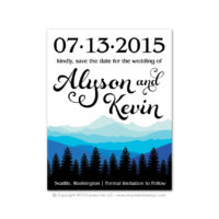 Ombre Mountains Save the Dates