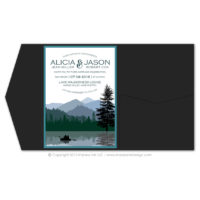 Wilderness Pocket Fold Invitations